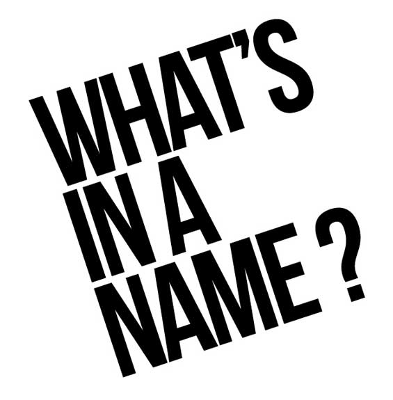 Whats In A Name Image
