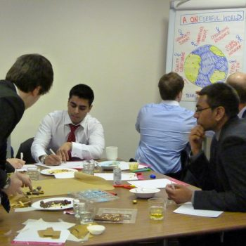 Group of people at chocolate team building event